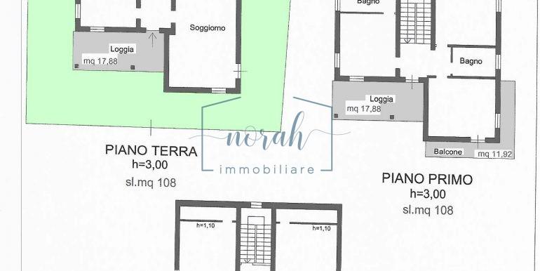 planimetria piano terra primo e secondo villa capodarco